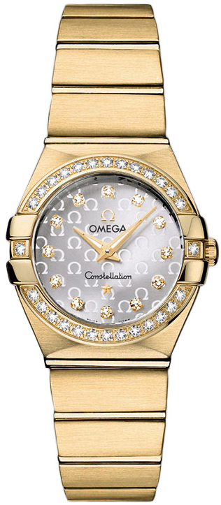 Omega Constellation Ladies Mini in Yellow Gold with Diamond Bezel