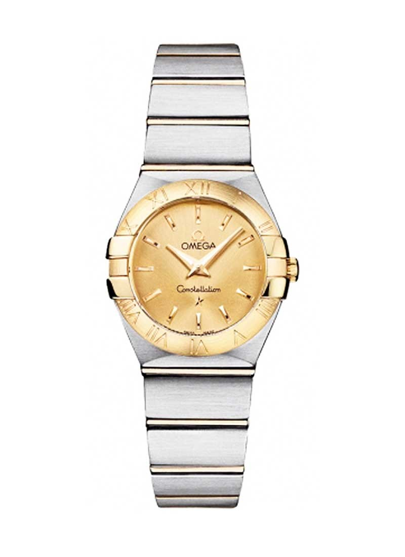Omega Constellation Men's 24mm in Steel and Yellow Gold