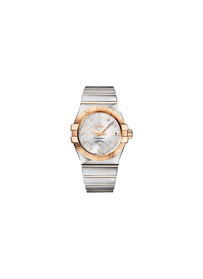 Omega Constellation in Steel with Rose Gold Bezel