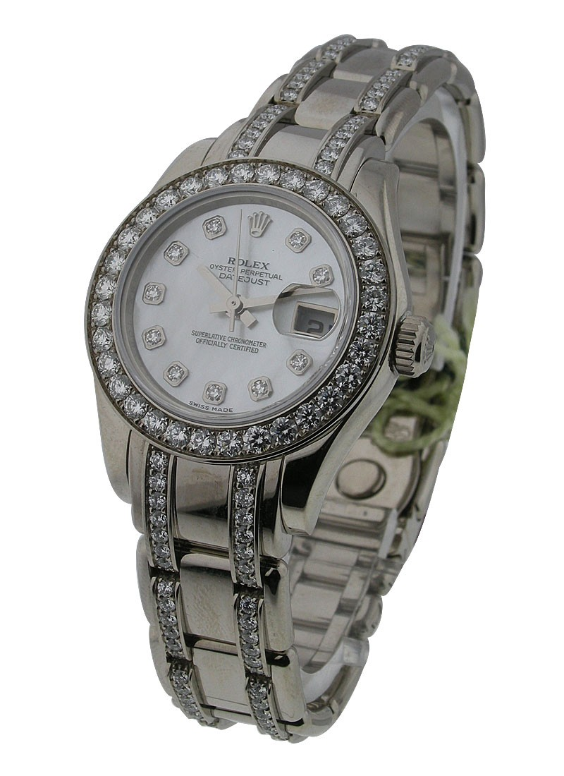 Rolex Used Pearl Master in White Gold with 32 Diamond Bracelet