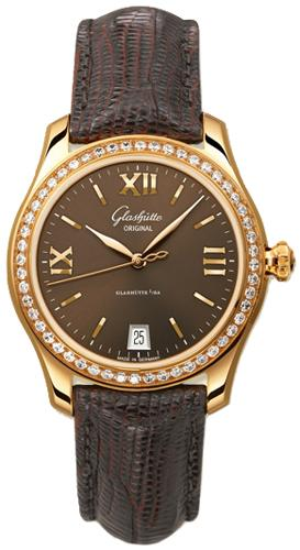 Glashutte Lady Serenade 36mm Autoamtic in Rose Gold with Diamonds Bezel