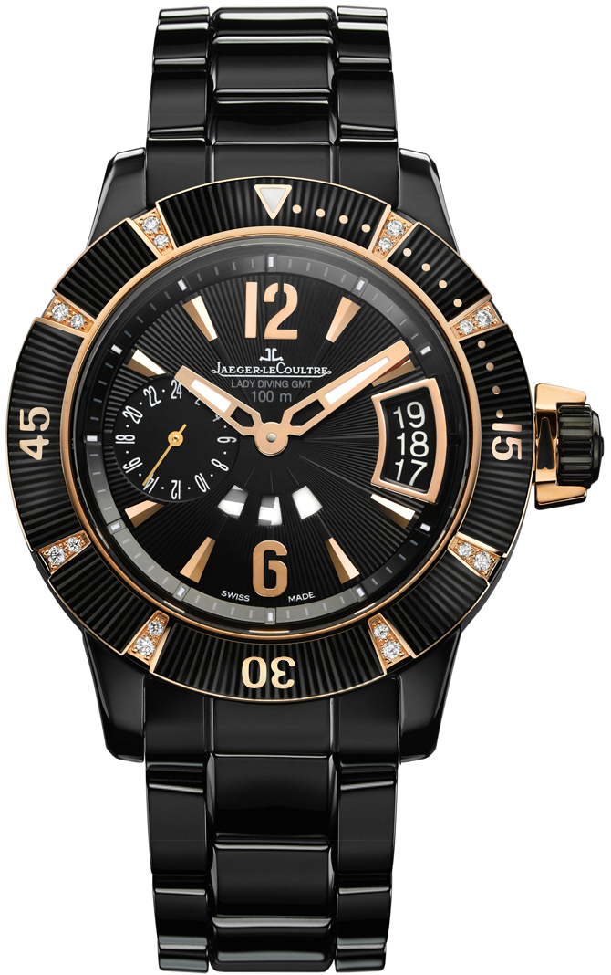 Jaeger - LeCoultre Master Compressor Diving GMT in Ceramic and Rose Gold with Diamond
