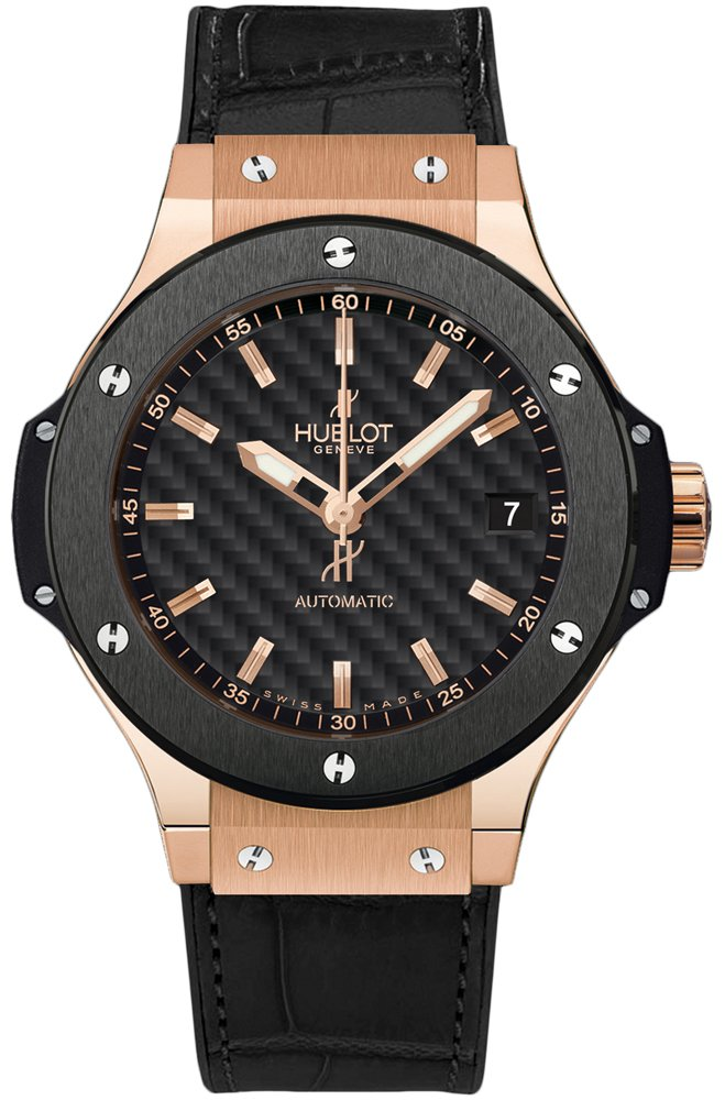 Hublot Big Bang Gold Ceramic in Rose Gold with Black Ceramic Bezel