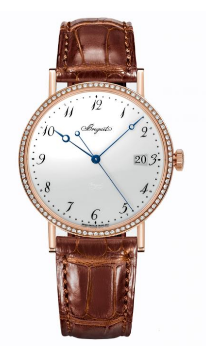 Breguet Classique 38mm in Rose Gold with Diamond Bezel