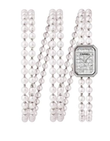 Chanel Premiere Collection 15mm in White Gold with Diamonds Bezel
