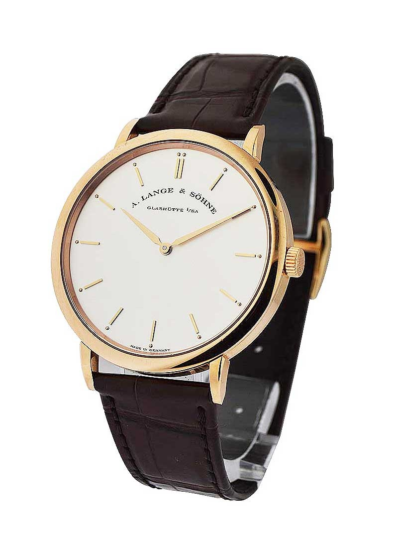 A. Lange & Sohne Saxonia Thin Mens Manual in Rose Gold