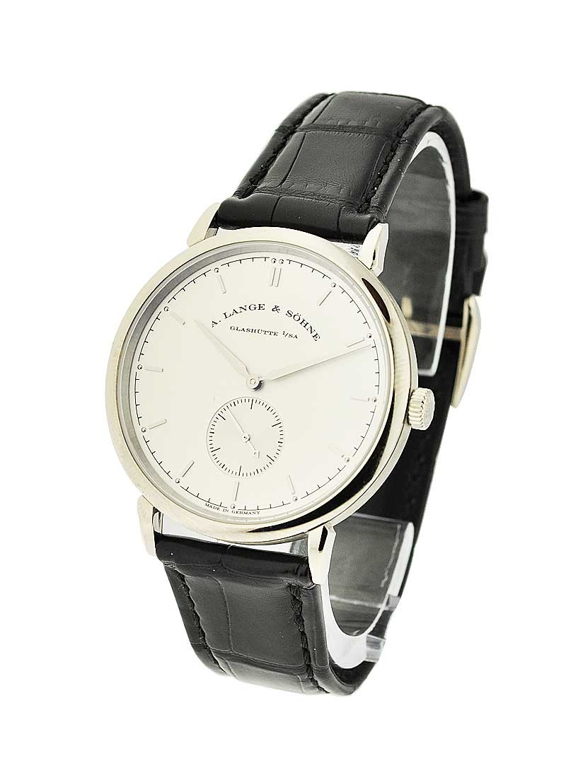 A. Lange & Sohne Saxonia Mens Manual in White Gold