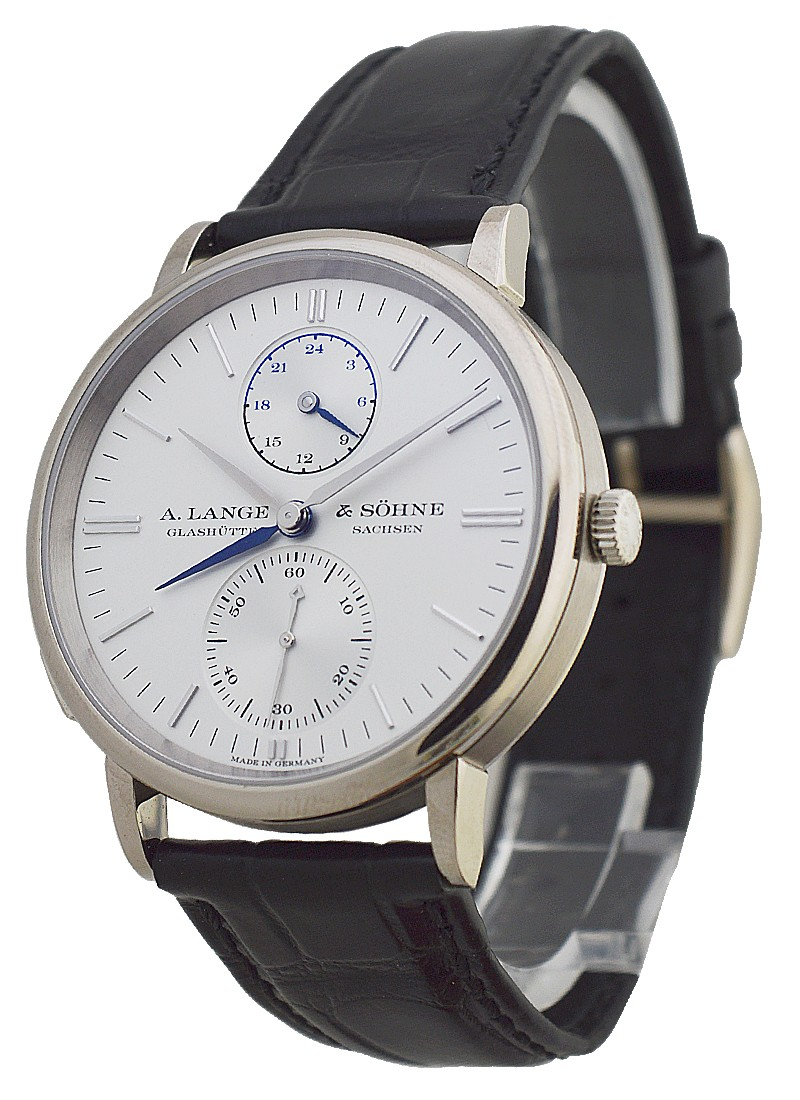 A. Lange & Sohne Saxonia Dual TIme Mens in White Gold