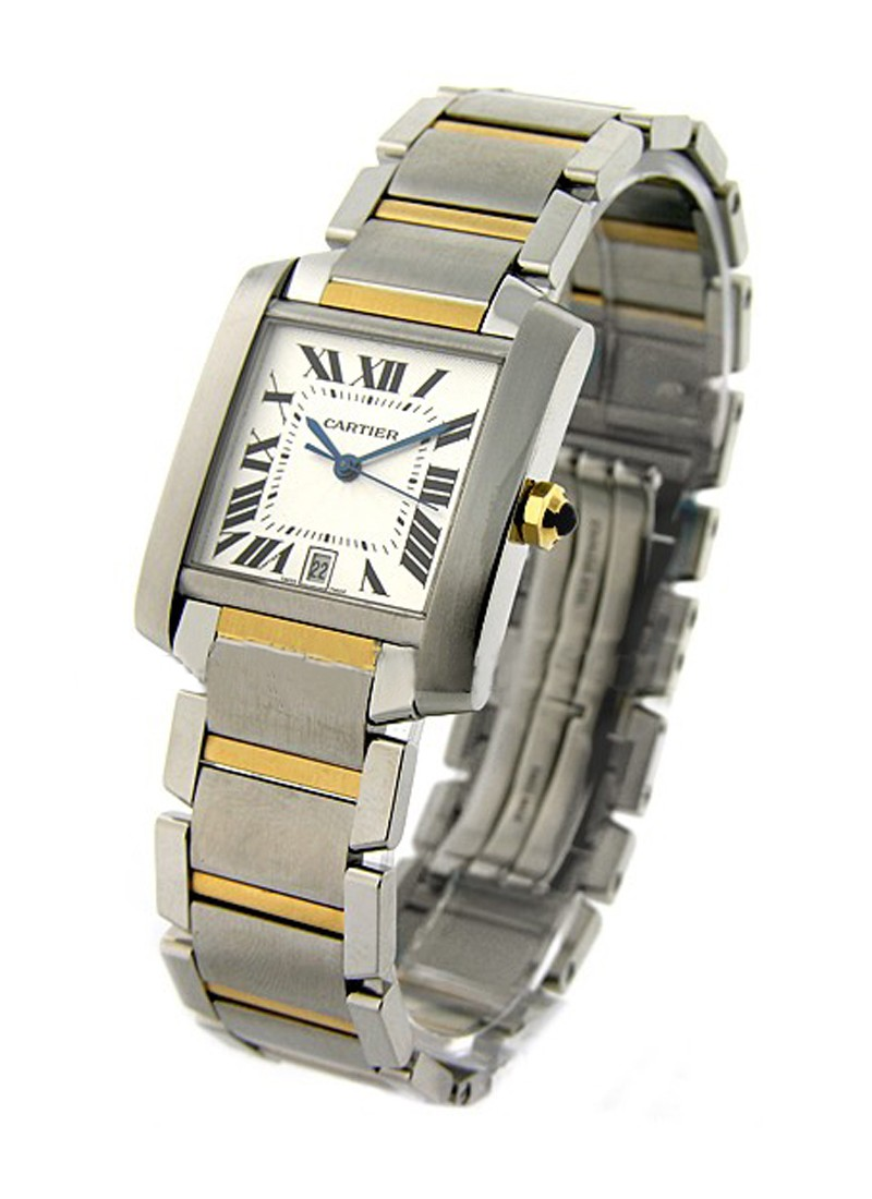 Cartier Tank Francaise Large Size in Steel and Yellow Gold