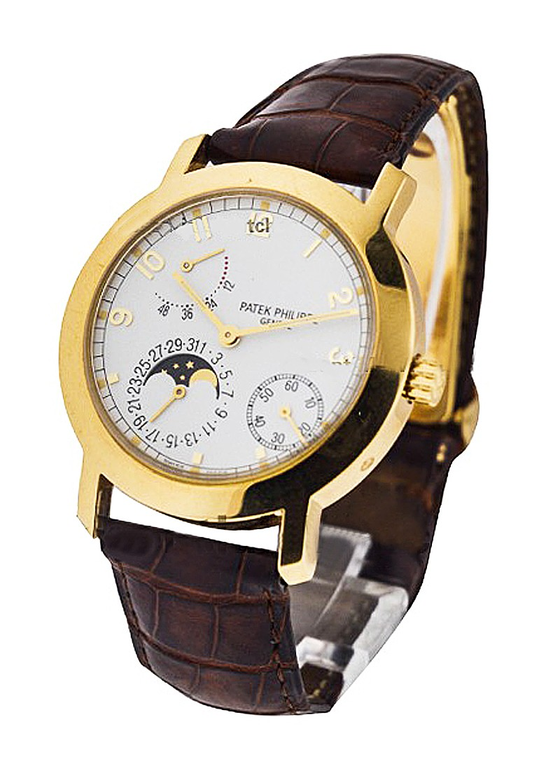 Patek Philippe 5055J Moon Phase and Power Reserve in Yellow Gold