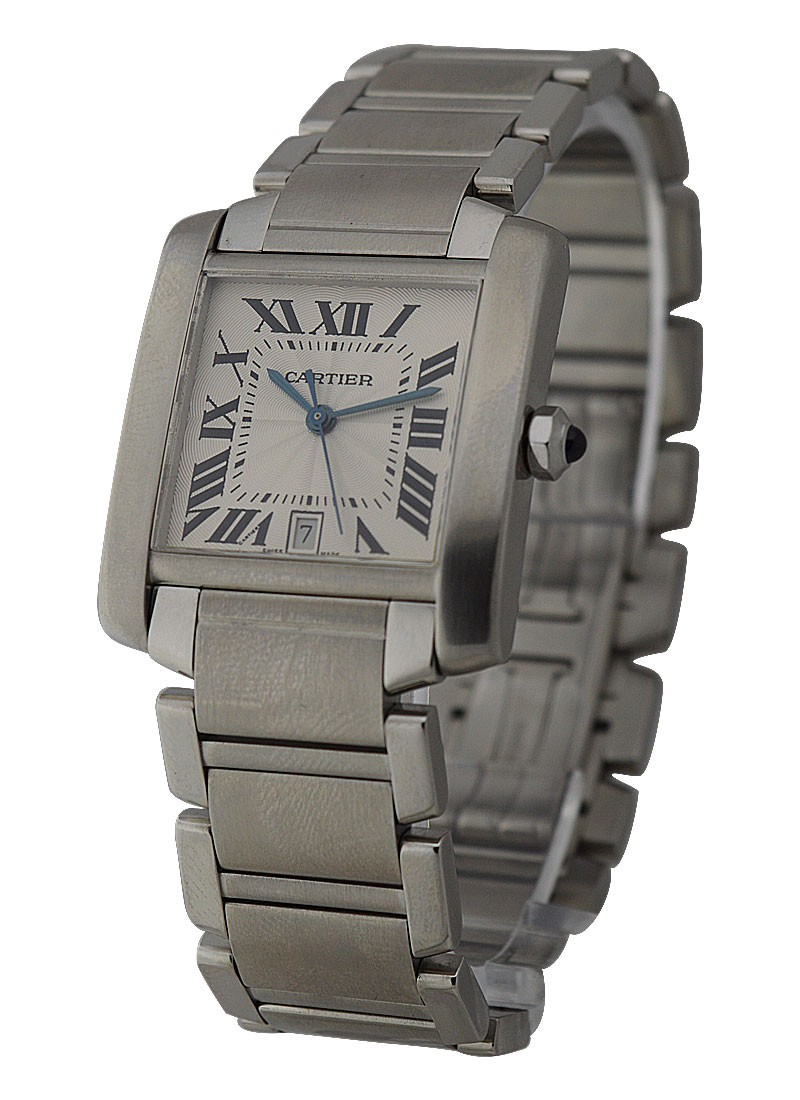 Cartier Tank Francaise - Large Size in Steel