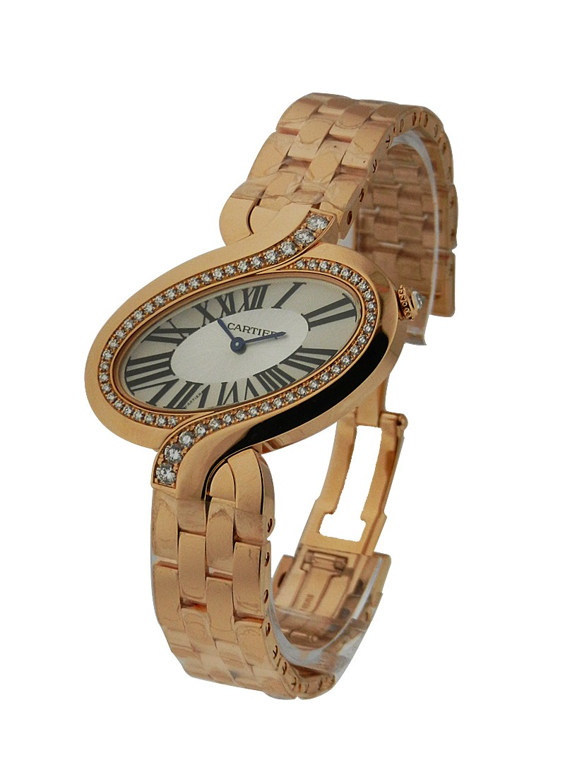 Cartier Delices de Cartier Large in Rose Gold with Diamond Bezel