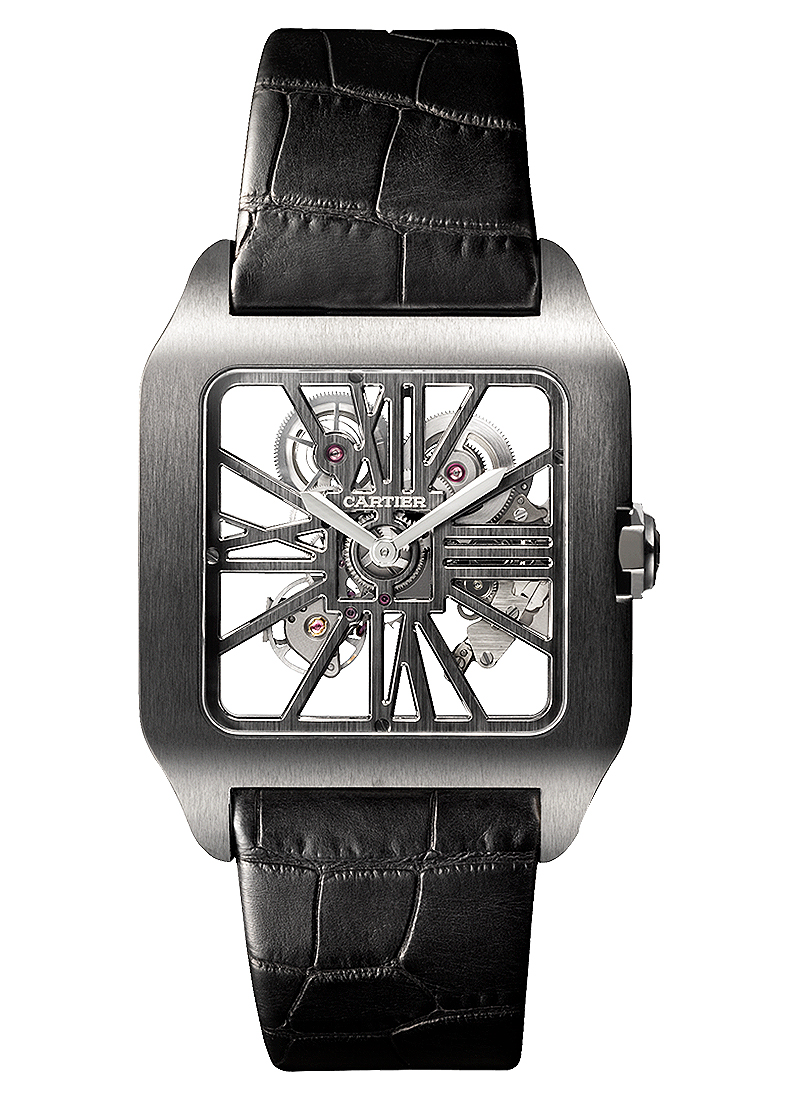 Cartier Santos Dumonte Skeleton Carbon
