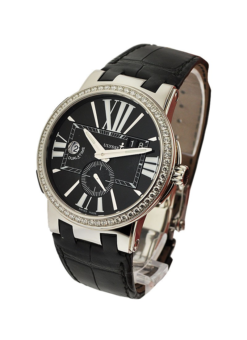 Ulysse Nardin Executive Dual Time with Diamond Bezel