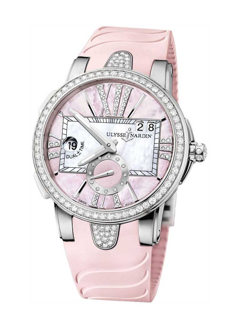 Ulysse Nardin Executive Dual Time 40mm in Steel Diamond Bezel