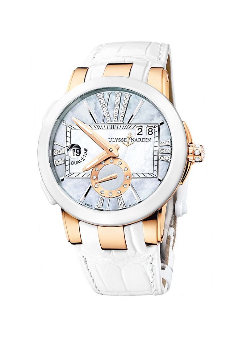Ulysse Nardin Executive Dual Time in Rose Gold with Ceramic Bezel