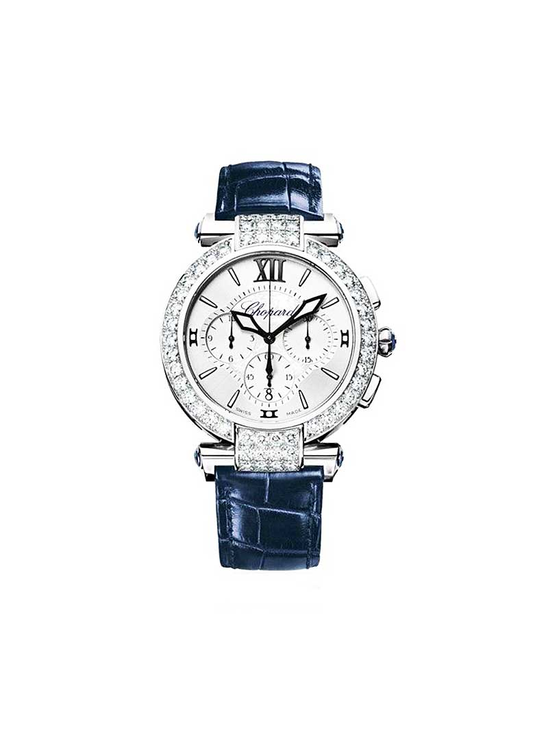 Chopard Imperiale Automatic Chronograph in White Gold with Diamond Bezel