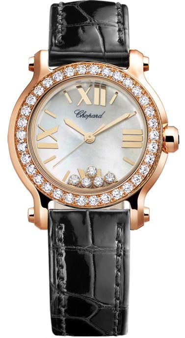 Chopard Happy Sport II Round 30mm in Rose Gold with Diamond Bezel