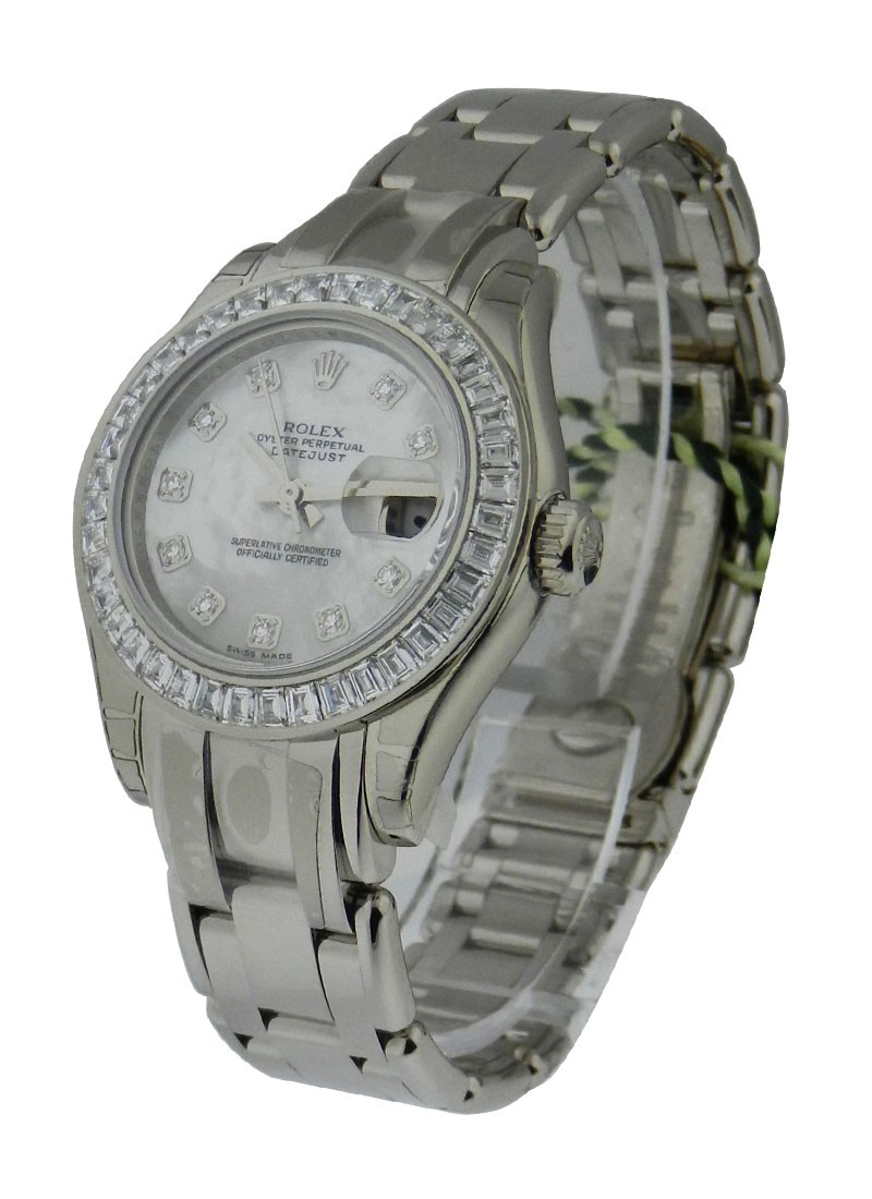 Rolex Unworn Masterpiece in White Gold with Baguette Diamond Bezel