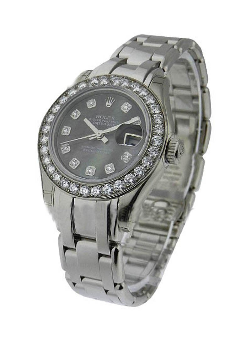 Rolex Unworn  Lady's White Gold Masterpiece with Diamond Bezel
