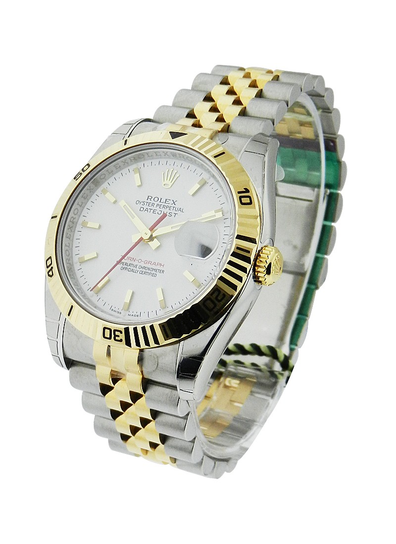 Rolex Unworn Turn O Graph Mens Datejust    2 Tone YG/SS