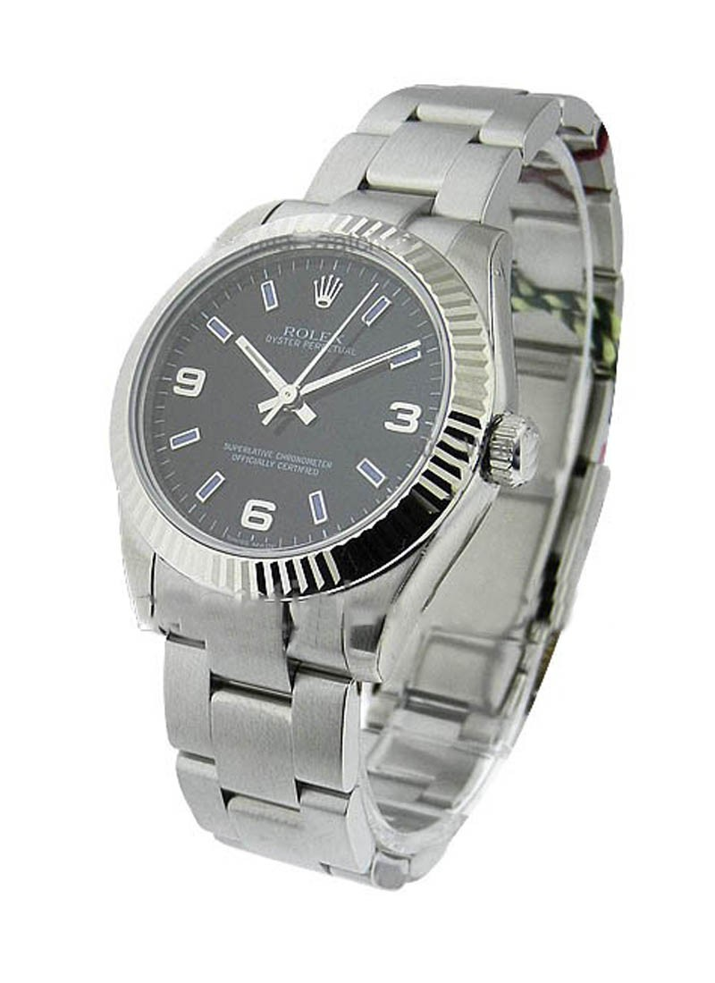 Rolex Unworn Oyster Perpetual 31mm Automatic in Steel with Fluted Bezel