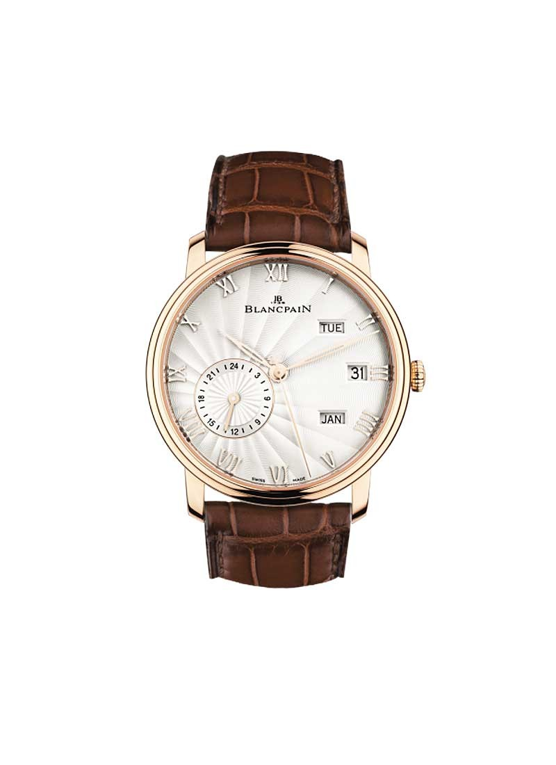 Blancpain Villeret Quantieme Annuel GMT 40mm Automatic in Rose Gold