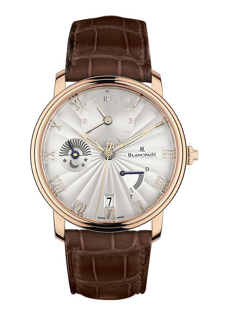 Blancpain Villeret Half Timezone Half Hunter 40mm Automatic in Rose Gold