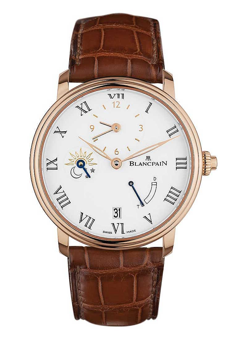 Blancpain Villeret 8 Day Half-Timezone 42mm Automatic in Rose Gold