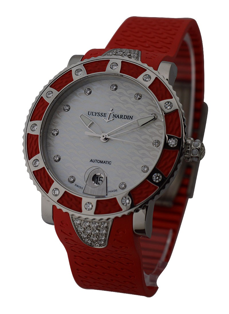 Ulysse Nardin Lady Diver with Red Diamond Bezel