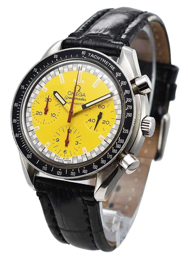 Omega Speed Master Schumacher Yellow in Stainless Steel