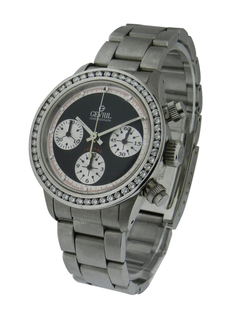 Gevril Tribeca Stainless Steel with Added Diamond Bezel