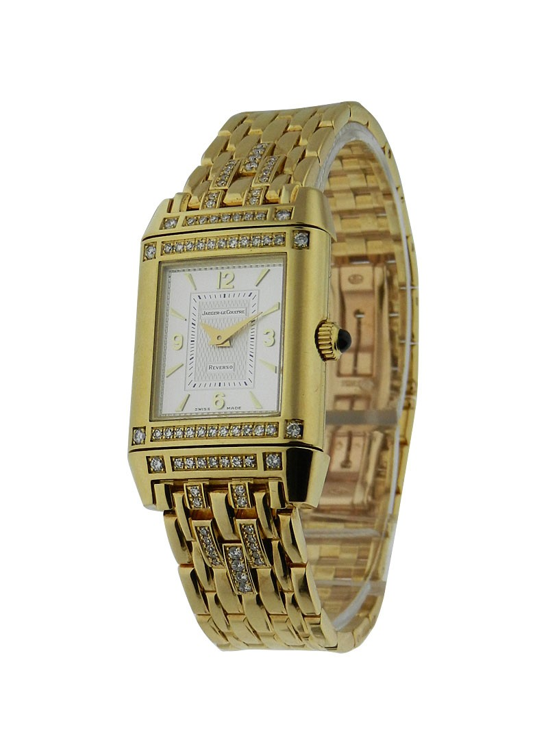 Jaeger - LeCoultre Lady's Reverso Yellow Gold with Diamond Lugs
