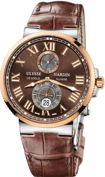 Ulysse Nardin Maxi Marine Chronometer 43mm   Two Tone