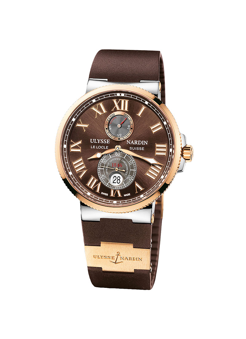 Ulysse Nardin Maxi Marine Chronometer 43mm in Steel with Rose Gold Bezel