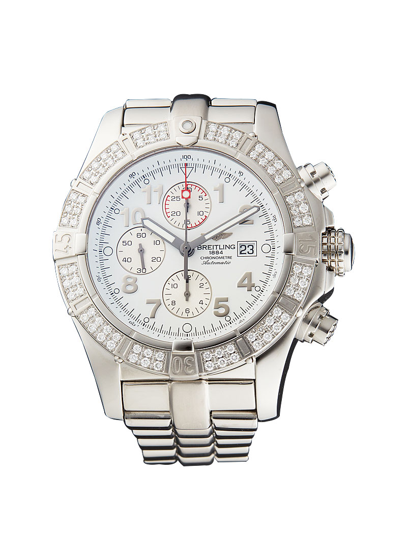 Breitling Super Avenger Chronograph in Steel with Diamond Bezel