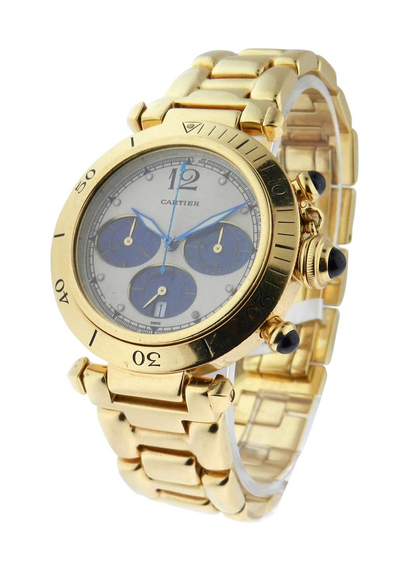 Cartier 38mm Pasha Chronograph Yellow Gold