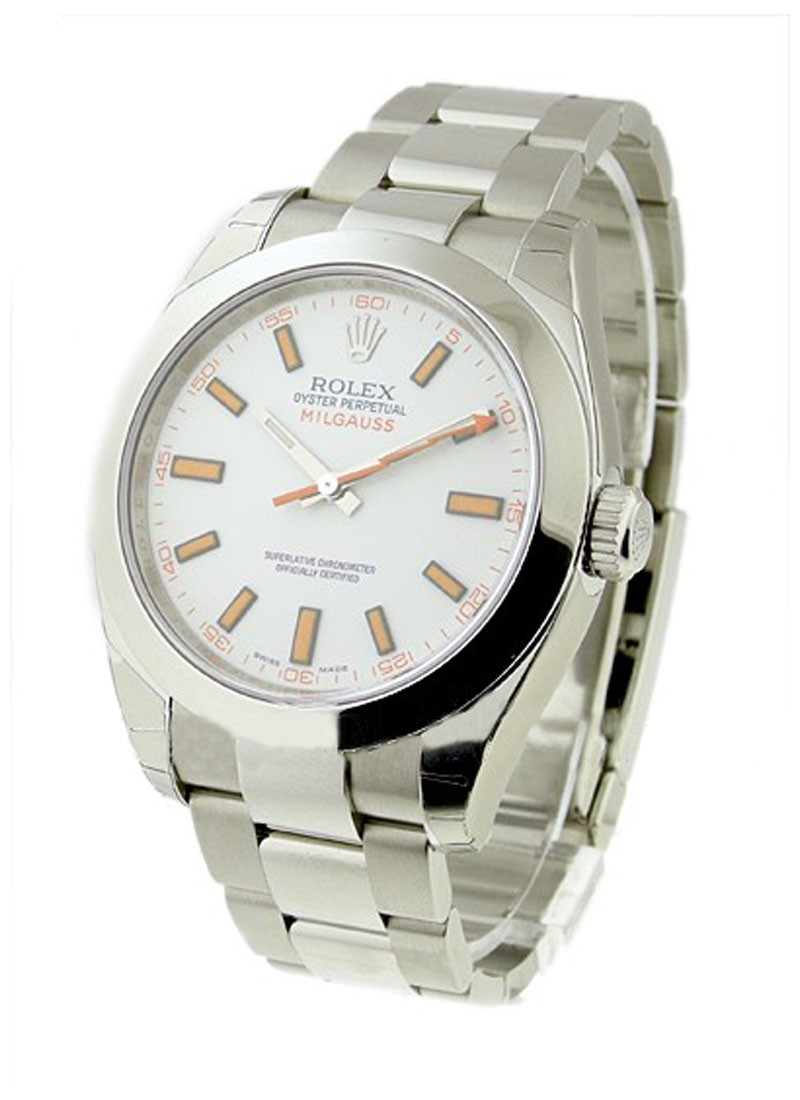 Rolex Used Milgauss 40mm - Steel with Domed Bezel