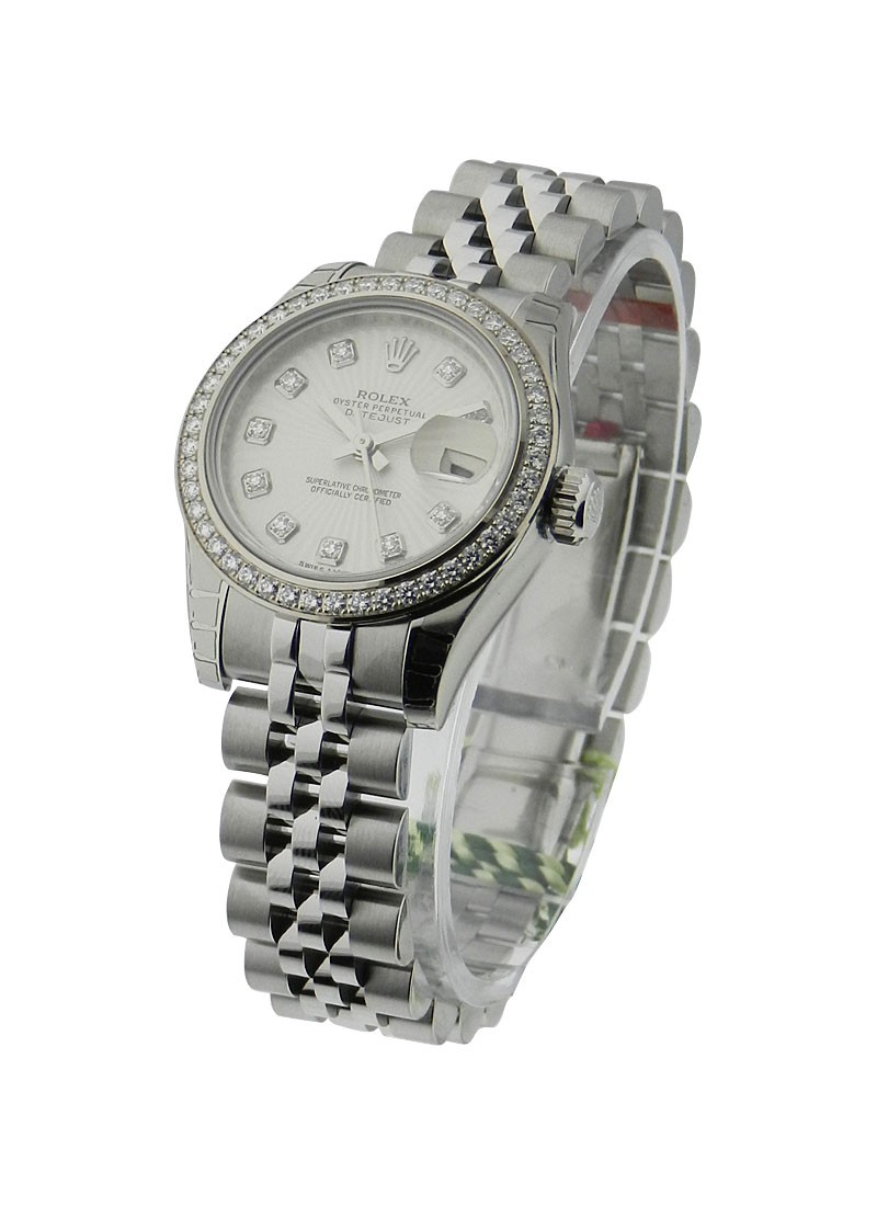 Rolex Unworn Ladies Datejust 26mm in Steel with Diamond Bezel
