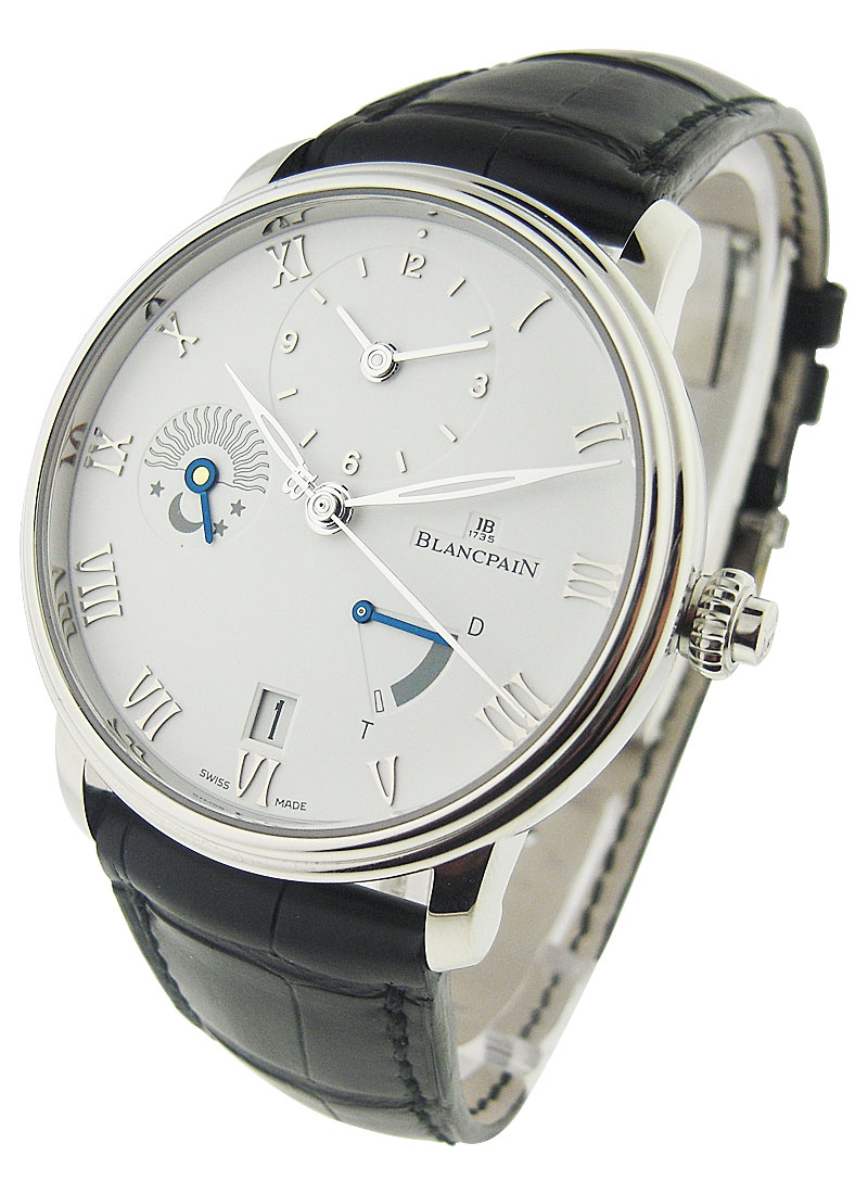 Blancpain Villeret Half Time Zone 40mm in Stainless Steel