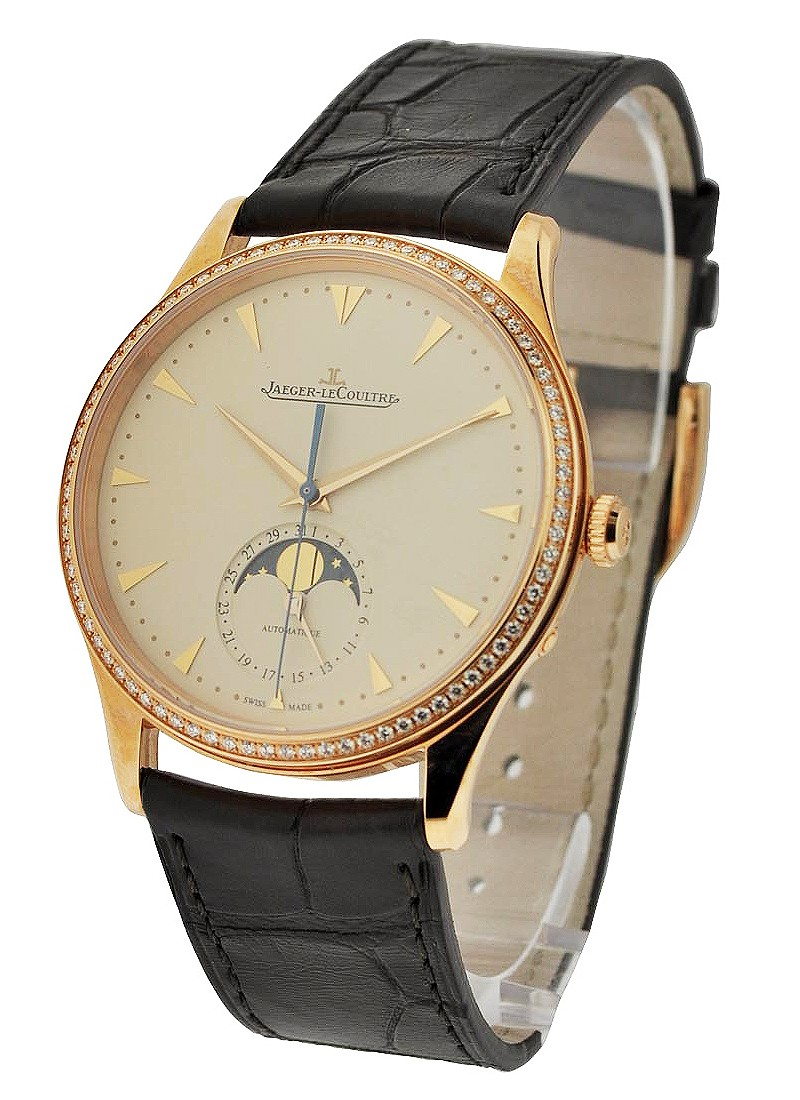 Jaeger - LeCoultre Master Ultra Thin Moon in Rose Gold with Diamond Bezel