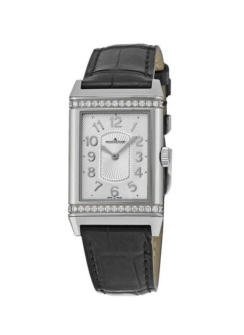 Jaeger - LeCoultre Grande Reverso Lady Ultra Thin in Steel with Partial Diamond Bezel