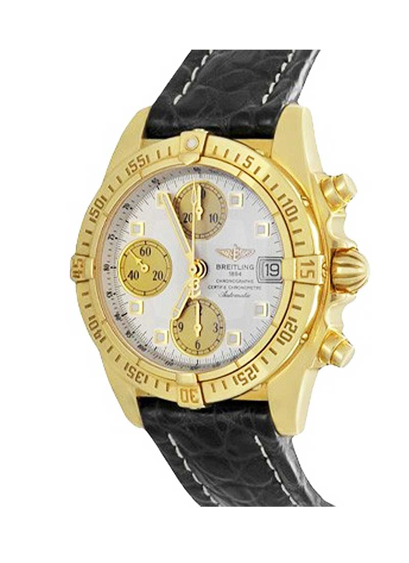 Breitling Chrono-Cockpit  Men's in Yellow Gold