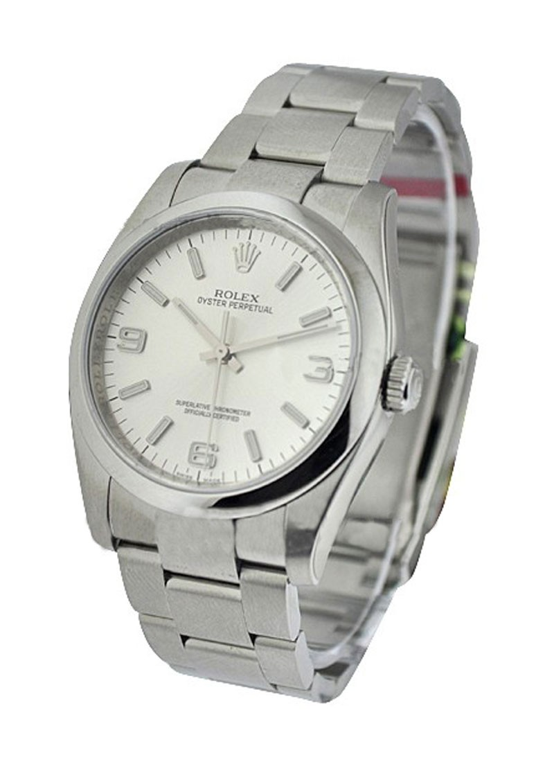 Rolex Unworn Oyster Perpetual No Date in Steel with Smooth Bezel