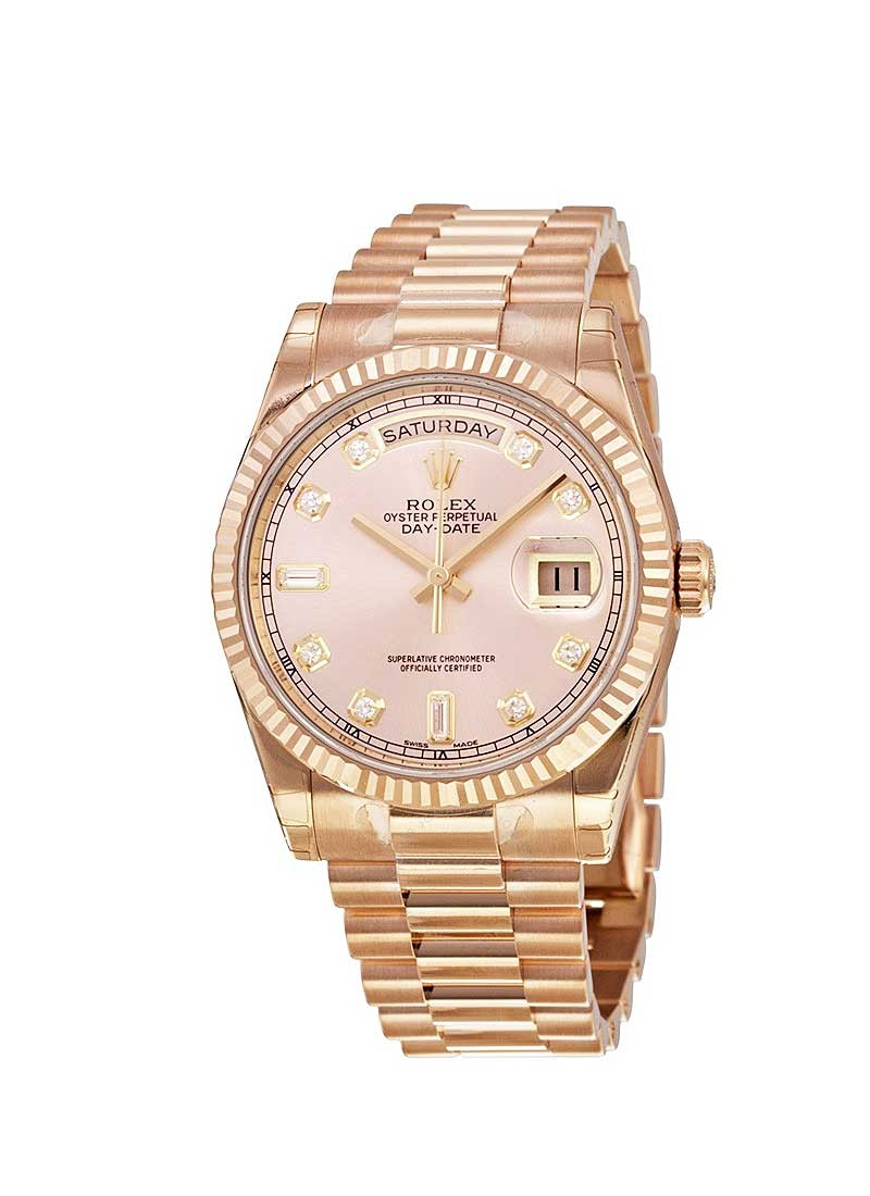 Rolex Unworn President Day-Date in Rose Gold