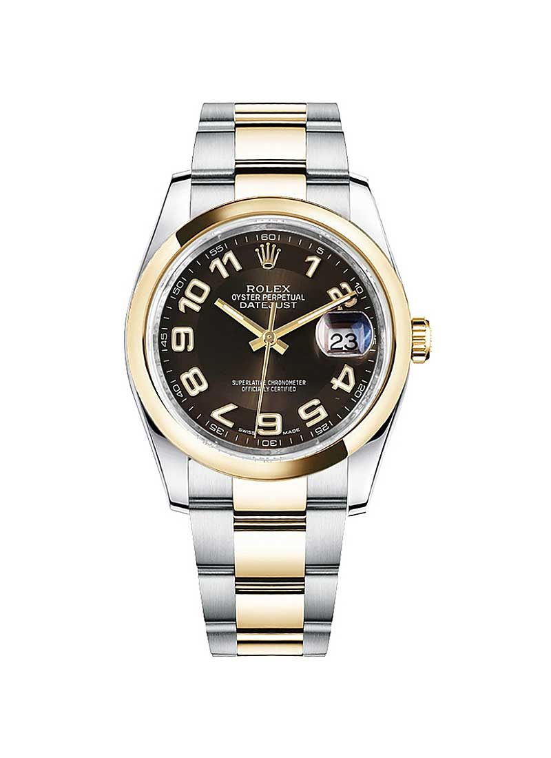 Rolex Unworn 2-Tone Datejust 36mm in Steel with Yellow Gold Smooth Bezel