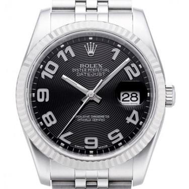 Rolex Unworn Datejust 36mm in Steel with White Gold Fluted Bezel