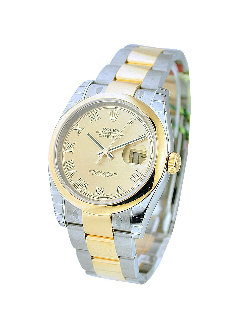 Rolex Unworn Datejust 36mm in 2 Tone with Domed Bezel