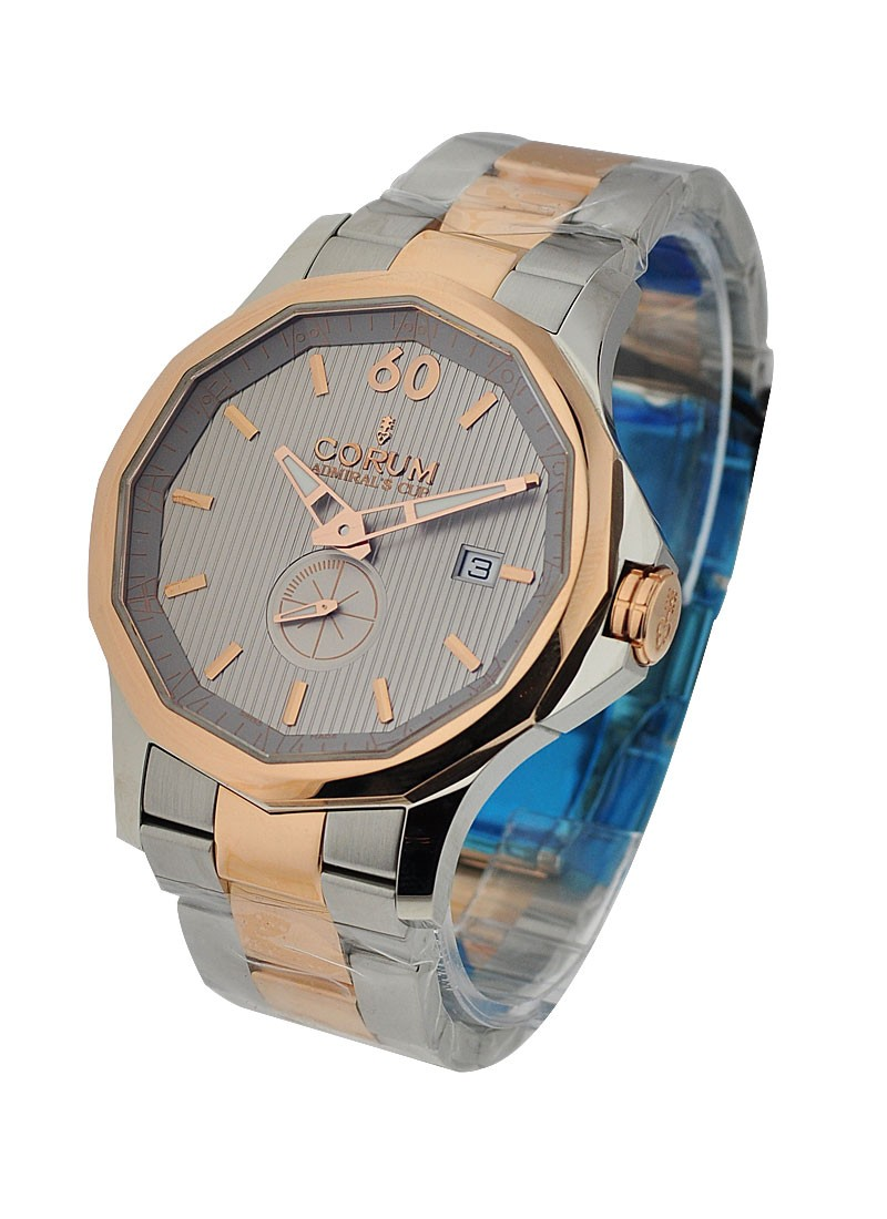 Corum Admirals Cup Legend 42 in Steel with Rose Gold Bezel