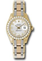 Rolex Unworn Ladies Tridor Masterpiece with Diamond Bezel